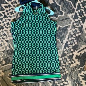 Cutest blue and green mud pie dress!